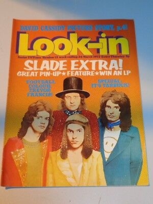 Look-In British Weekly Magazine #13 24Th March 1973 Slade With Poster