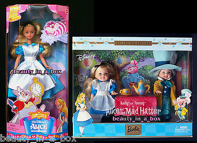 Alice in Wonderland Kelly Doll Mad Hatter Tommy Barbie My Favorite Fairytale G