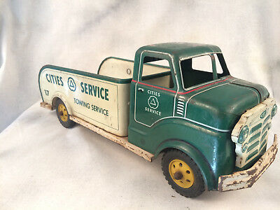 Cities Service (Citgo) Steel Marx Truck Well Loved 1940's