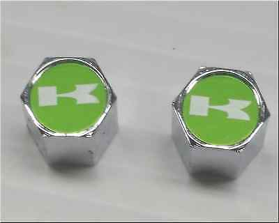 Motorcycle Tire Valve Caps Kawasaki Green