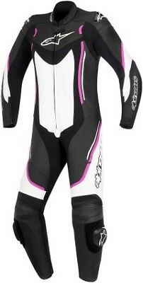 Alpinestars Stella Motegi Womens 1-Piece Leather Suit Black/Pink