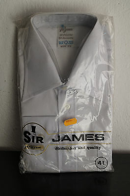 Vintage Herren Hemd Shirt 60er 70er NOS Sir James Gr 41