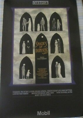 Edward Gorey MYSTERY! Shades of Darkness 1984 LARGE Poster Vincent Price PBS