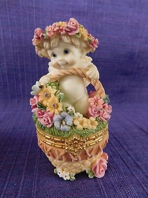 Dreamsicles FLOWER BASKET 10354 TRINKET BOX  (1997)