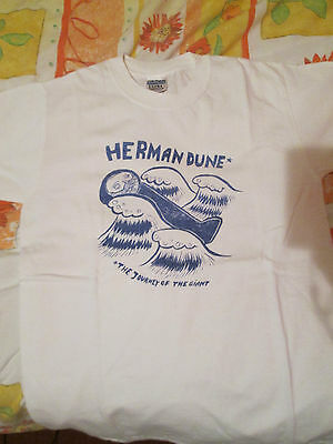 Herman Dune - The Journey of the Giant t-shirt (Small, white)