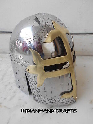 Collectibles Sugar Loaf Armour Helmet- Masons Cross Medieval Knight Helmet Gift