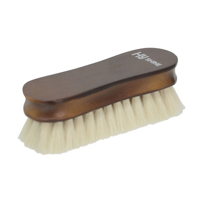 HySHINE Deluxe Wooden Face Brush with Goats Hair