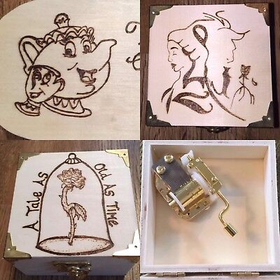 Beauty & The Beast Wind Up Musical Trinket/Jewellery Box. Choice Of Designs.