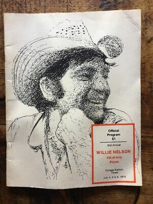 Vintage Willie Nelson  2nd Annual 4th Of July Picnic Official Program