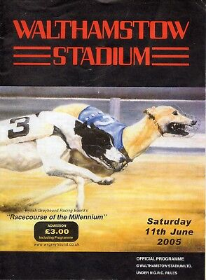 Greyhound Racecard - Walthamstow Stadium 11 June 2005