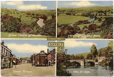P.C Multiview Four Views Of Duffield Derby Derbyshire P U 1964 Pub Bourne