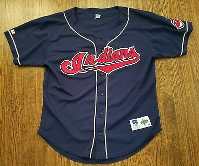 90s Vintage Cleveland Indians MLB Russell Athletic Baseball Jersey