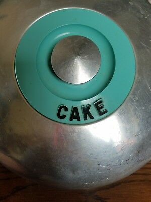 Turquoise blue kromex cake cover hard to find