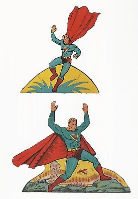 "Rare Superman Punch Out Book Pieces - Set 8 - 1939, 1940 - Don""t Miss These"