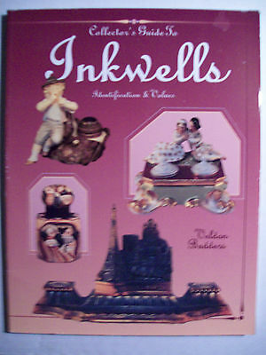 500+ VINTAGE INKWELLS $$$ id PRICE GUIDE COLLECTOR'S BOOK Color Picture ink well