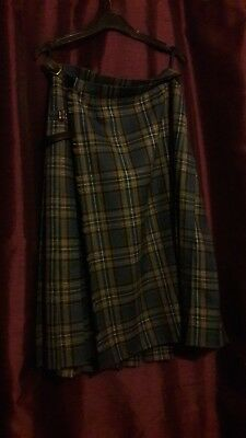 100% Wool Scottish Kilt Ladies
