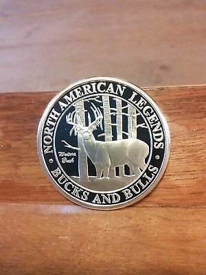 North American Legends Bucks And Bulls-Walters Buck Coin-Free Shipping!