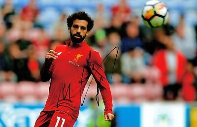 Mohamed Salah Signed Photo 12x8 ***WITH EXACT PROOF***