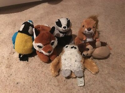 Finger Puppet Set Of Woodland Creatures Used