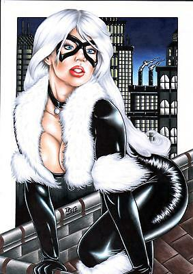 "Black Cat (11""x17"") by Diego Bruno - Ed Benes Studio"