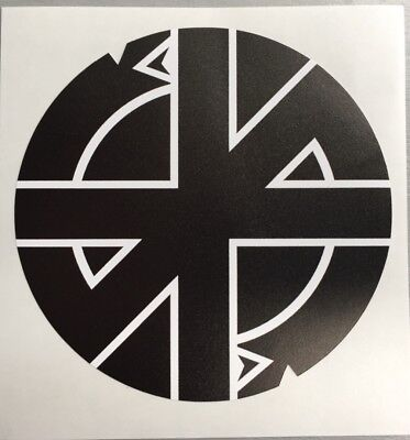 New unused 90mm circular Vinyl Sticker punk crass conflict anarchy car iPad