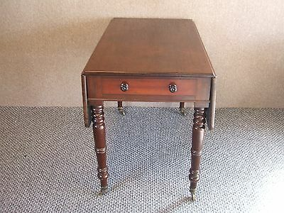 Antique Mahogany Pembroke  / Tea Table  With Single End Drawer