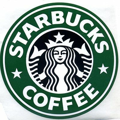 Authentic  Starbucks Large  Old Retired Logo Sticker  3""
