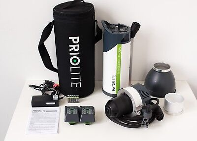 Priolite M-Pack 1000 Hot Sync Kit Buddy with extras, Nikon & Pentax triggers