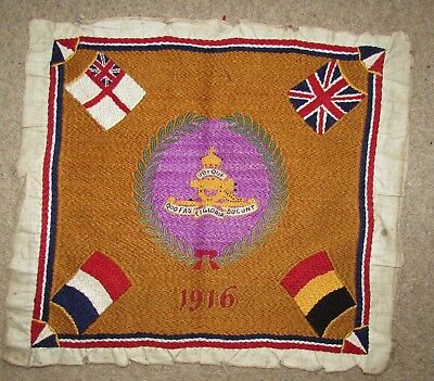 Vintage Woolwork Military related Tapestry Needlework Royal Artillary 1916