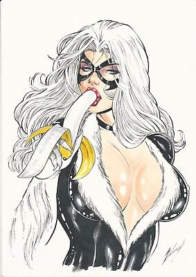 "Black Cat (11""x17"") by Ednardo - Ed Benes Studio"