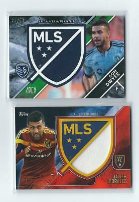 Topps 2015/16 Apex Mls 2 Jersey Card Lot Morales/dwyer /50 Sp /25