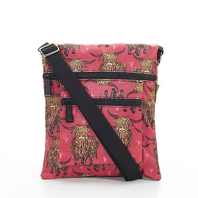 Highland Foldable Cross Body Bag in Red By Eco Chic