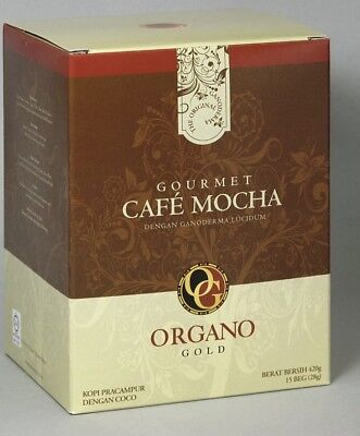 4 Boxes of Organo Gold Gourmet Cafe Mocha,14.9 oz NET,15 sachets