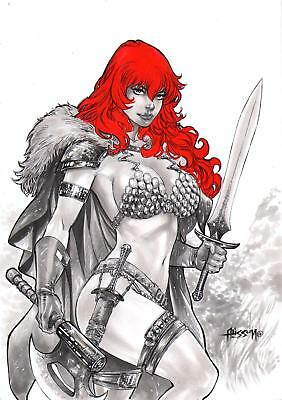"Red Sonja (09""x12"") by Alisson - Ed Benes Studio"
