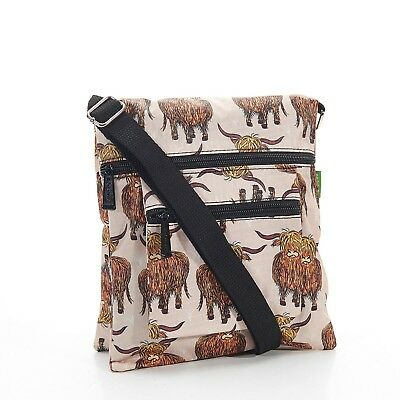 Highland Foldable Cross Body Bag in Beige By Eco Chic