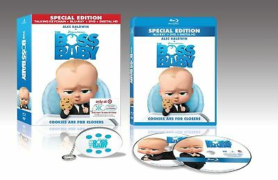 The Boss Baby (Blu-Ray/DVD, Digital 2017) Target Exclusive Talking Keychain NEW
