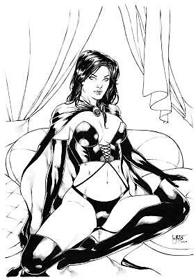 "Black Queen (11""x17"") by Leo Matos - Ed Benes Studio"