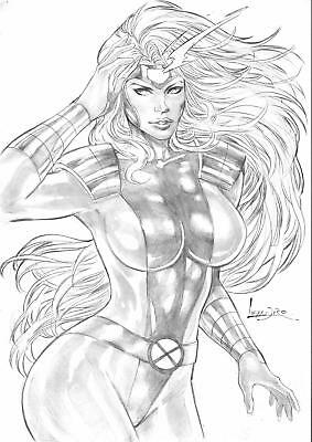 "Jean Grey (11""x17"") by Leandro - Ed Benes Studio"