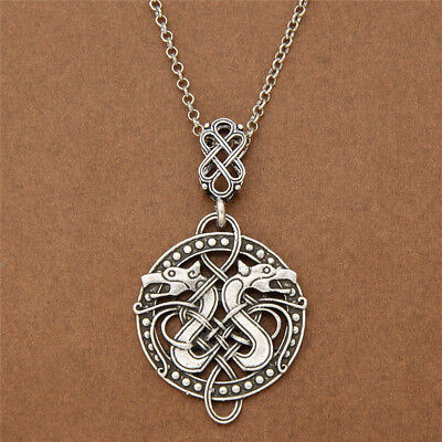Viking Celtic Knots Dragon Odin Pendant Necklace Norse Nordic Jewelry Charm