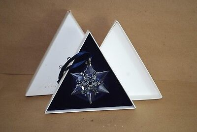 Swarovski Crystal 2000 Annual Snowflake Christmas Ornament in Original Box