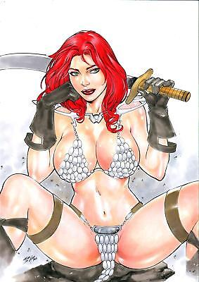 "Red Sonja (11""x17"") by Iago Maia - Ed Benes Studio"