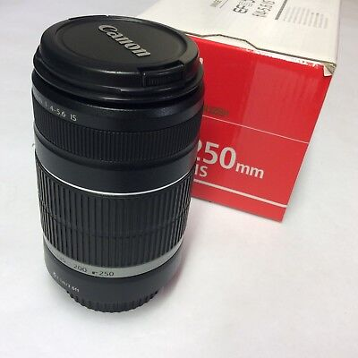Canon EF-S 55-250mm f/4-5.6 IS Telephoto Zoom AF Lens Boxed, Nice Condition!