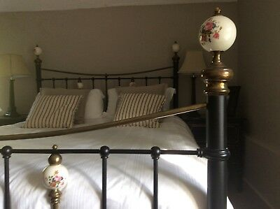 Victorian cast iron 5ft bed