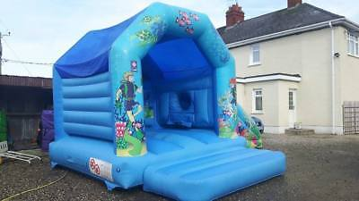 Airquee Bouncy Castle Bounce N Slide Farm Theme Or Ocean Theme With Blower