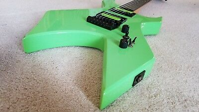 Bc Rich Warlock Platinum 80s 90s Green Reverse Upgraded W Fitted