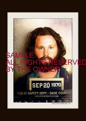 THE DOORS  JIM MORRISON DADE COUNTY ARREST SHOT COLOR 5x7 FEW IN STOCK