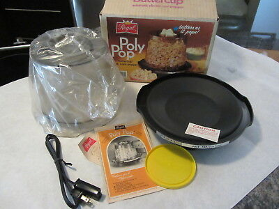 Vintage Regal Automotic Electric Poly Pop Buttercup 4 Qt Corn Popcorn Popper NEW