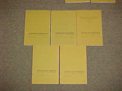 American Antiquity-Complete year 1975-Volume 40, Nos.1,2(2parts),3,4-Archaeology