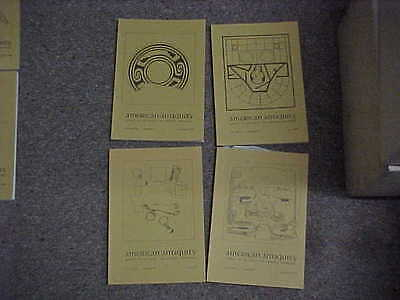 American Antiquity-Complete year 1979-Volume 44, Numbers 1,2,3,4-Archaeology