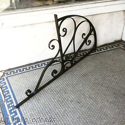 Early 1900's Wrought Iron Sign / Lantern Wall Bracket . Must See !!